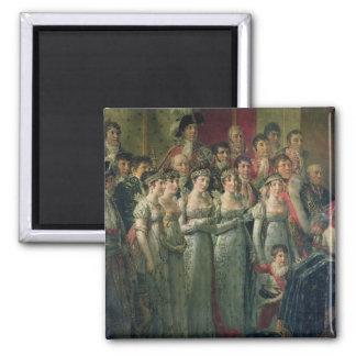 Napoleon's Consecration and Josephine's 2 Inch Square Magnet