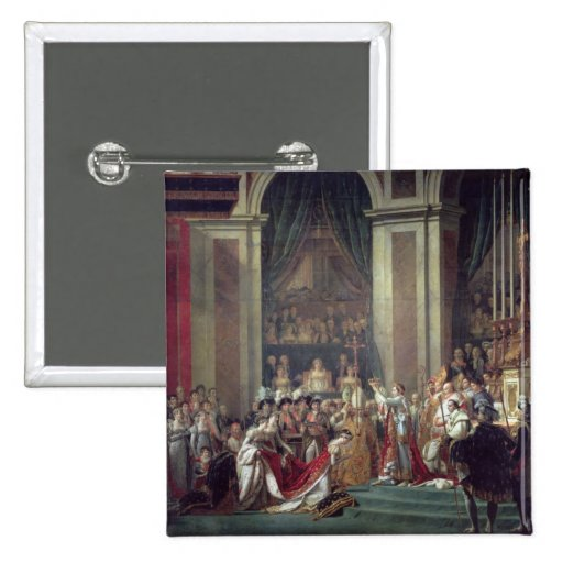 Napoleon's Consecration and Josephine's Pinback Buttons