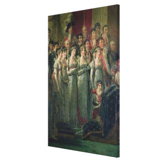 Napoleon's Consecration and Josephine's Canvas Print