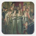 Napoleon's Consecration and Josephine's Square Sticker