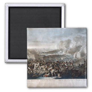 Napoleon's flight from the Battle of Waterloo 2 Inch Square Magnet