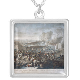 Napoleon's flight from the Battle of Waterloo Silver Plated Necklace
