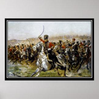Napoleon's Husars Battle of Friedland 1807 Poster