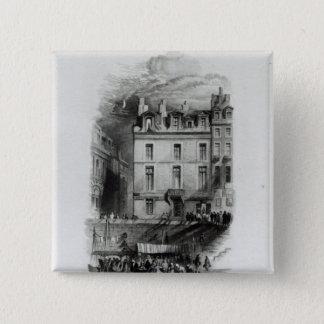 Napoleon's Lodgings on the Quai Conti, 1834-36 Pinback Button