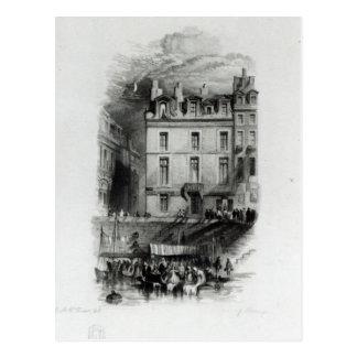 Napoleon's Lodgings on the Quai Conti, 1834-36 Postcard