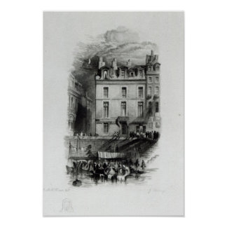 Napoleon's Lodgings on the Quai Conti, 1834-36 Posters