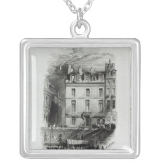 Napoleon's Lodgings on the Quai Conti, 1834-36 Silver Plated Necklace