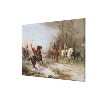 Napoleon's Peril at Brienne-le-Chateau, c.1891 (oi Canvas Print