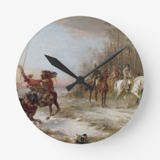 Napoleon's Peril at Brienne-le-Chateau, c.1891 (oi Round Clock