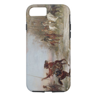 Napoleon's Peril at Brienne-le-Chateau, c.1891 (oi iPhone 8/7 Case