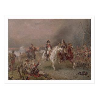 Napoleon's Retreat (oil on canvas) Postcard