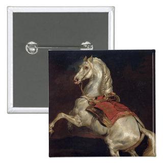 Napoleon's Stallion, Tamerlan 2 Inch Square Button