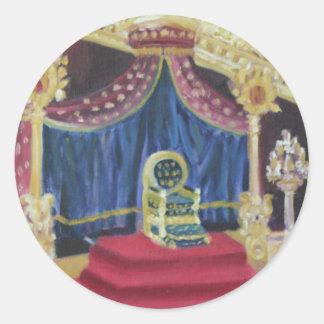 NAPOLEON'S THRONE ROOM: FONTAINEBLEAU CLASSIC ROUND STICKER
