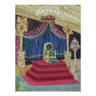 NAPOLEON'S THRONE ROOM: FONTAINEBLEAU POSTER