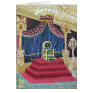 NAPOLEON'S THRONE ROOM: FOUNTAINEBLEAU CARD