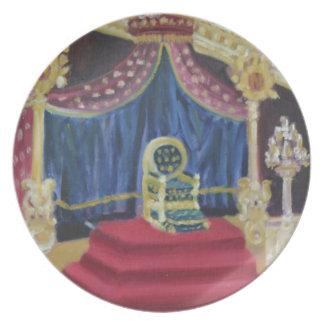 NAPOLEON'S THRONE ROOM: FOUNTAINEBLEAU Plate