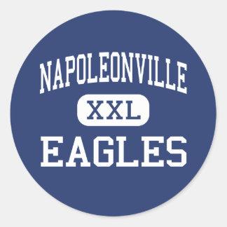 Napoleonville Eagles Middle Napoleonville Round Stickers
