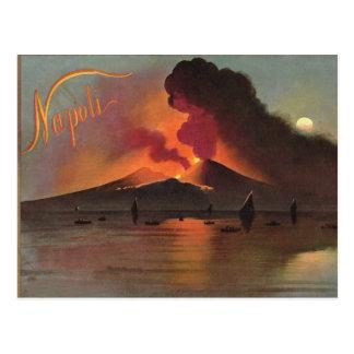 Nápoles, 1908, Vesuvio y la bahía de Nápoles Tarjeta Postal