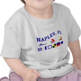 Nápoles, FL con las banderas marítimas Camisetas