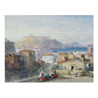 Nápoles, siglo XIX; watercolour; Tarjeta Postal