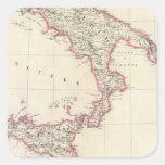 Nápoles y Sicilia 26 Pegatina Cuadrada