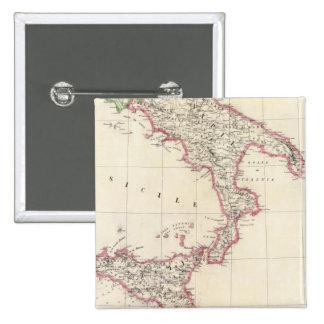 Nápoles y Sicilia 26 Pin Cuadrada 5 Cm