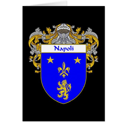 Napoli Coat of Arms (Mantled) Card
