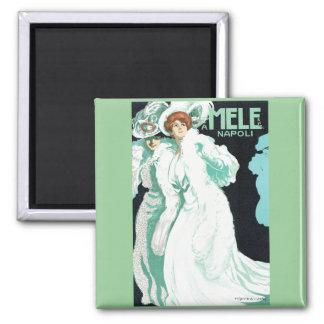 Napoli, E. & A. Mele & Ci. Vintage Art Nouveau Magnet
