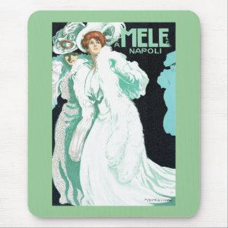 Napoli, E. y A. Mele y ci. Arte Nouveau del vintag Mousepads