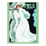 Napoli, E. y A. Mele y ci. Arte Nouveau del vintag Tarjetas Postales