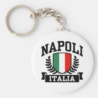 Napoli Italia Basic Round Button Keychain