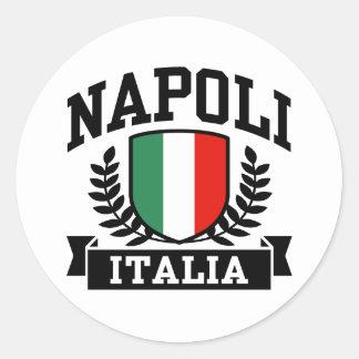 Napoli Italia Pegatina Redonda