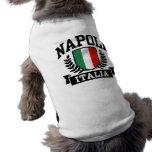 Napoli Italia Playera Sin Mangas Para Perro