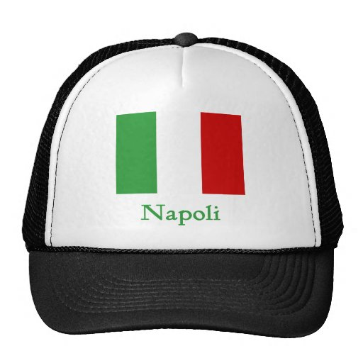 Napoli Italian Flag Trucker Hats