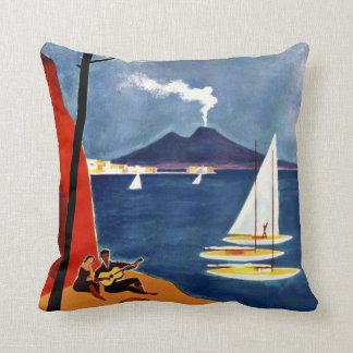 Napoli (Naples) Italy vintage travel pillow Throw Cushions