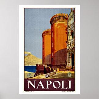 Napoli Naples Italy Vintage Travel Print
