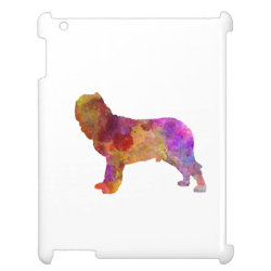 Case Savvy Glossy Finish iPad Case with Mastiff Phone Cases design