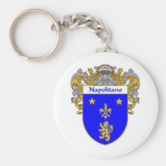 Napolitano Coat of Arms (Mantled) Basic Round Button Keychain