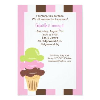 Napolitano Ice Cream Birthday Invitation