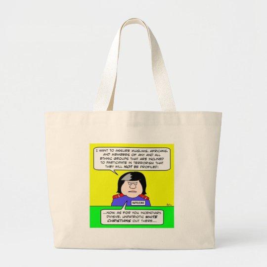 napolitano napoleono white christians large tote bag