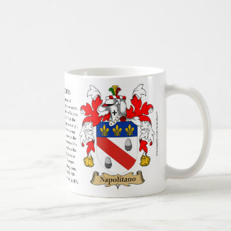 Napolitano, the Origin, the Meaning and the Crest Classic White Coffee Mug