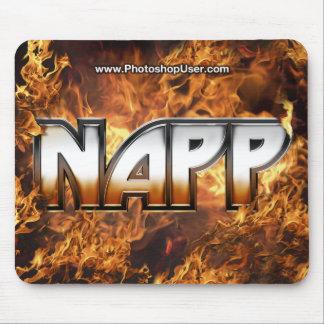 NAPP Mousepad - versión del fuego Tapetes De Ratón
