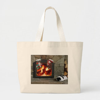 Napping by the Fireplace Tote Bag