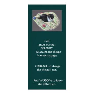 NAPPING CAT: ART: SERENITY PRAYER RACK CARD