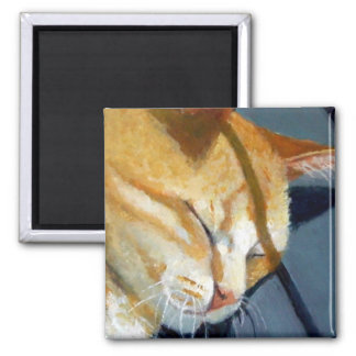 NAPPING CAT: I LIVE TO NAP REFRIGERATOR MAGNET