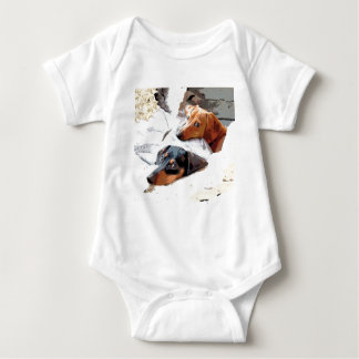 Napping Dogs Baby Bodysuit