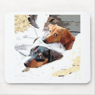 Napping Dogs Mouse Pad