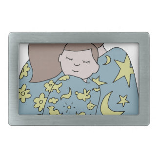 Napping Family Belt Buckle
