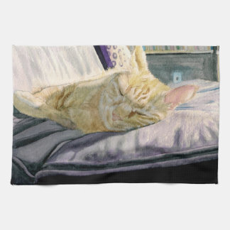 Napping in the Sun Kitchen Towel