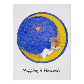 Napping is Heavenly print